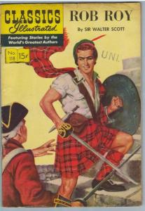 Classics Illustrated 118 (Original) Apr 1954 VG- (3.5)