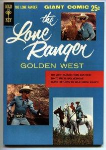 Lone Ranger Golden West #1 HIGH GRADE 1966-Gold Key Giant Western VF