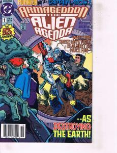 Lot Of 2 DC Comic Books Armageddon Alien Agenda #1 and Armageddon 2001 #2 ON4
