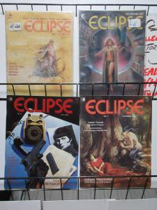 Eclipse Magazine #2, 3, 6, 7 Lot Fantasy Comic Magazine Rogers Englehart