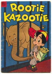 Rootie Kazootie #6 1954- elephant cover VG