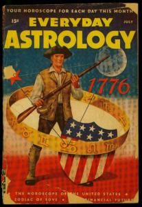 Everyday Astrology July 1947- Patriotic American Flag cover- Schomburg POOR