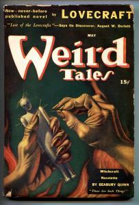 WEIRD TALES 05/1941-PULP-HORROR-H P LOVECRAFT-SEABURY QUINN-HANNES BOK fn minus