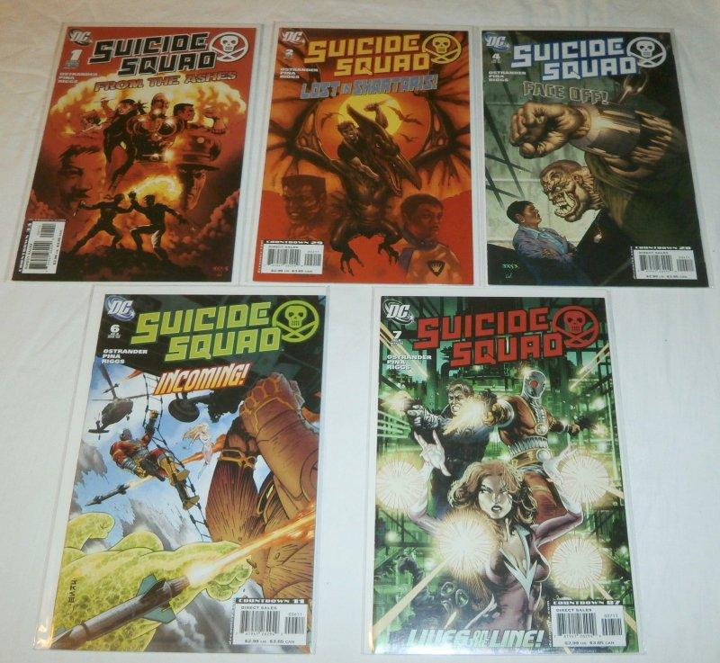 Suicide Squad (vol. 3, 2007) #1,2,4,6,7 (set of 5) Ostrander/Pina