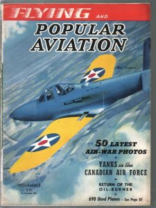 Popular Aviation 11/1940-50 latest air war photos-Bell Airabonita cover-VG