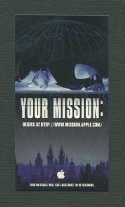 1996 Apple Mission:Impossible Promo Card (Tom Cruise) MINT