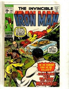 Iron Man # 32 VF Marvel Comic Book Avengers Hulk Thor Captain America J462