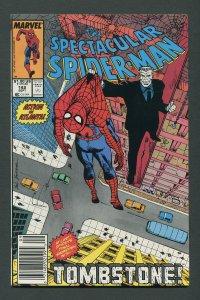 Peter Parker,Spectacular Spiderman #142 / 9.4 NM Newsstand  September 1988