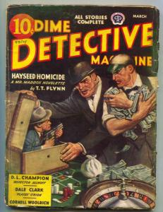 Dime Detective Pulp March 1944- Little Person menace