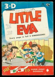 LITTLE EVA 3-D COMICS #1 1953- INFINITY COVER ST JOHN VG-
