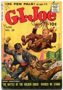 GI JOE #39 1955-SAUNDERS & DECARLO ART-ZIFF DAVIS COMIC VG-