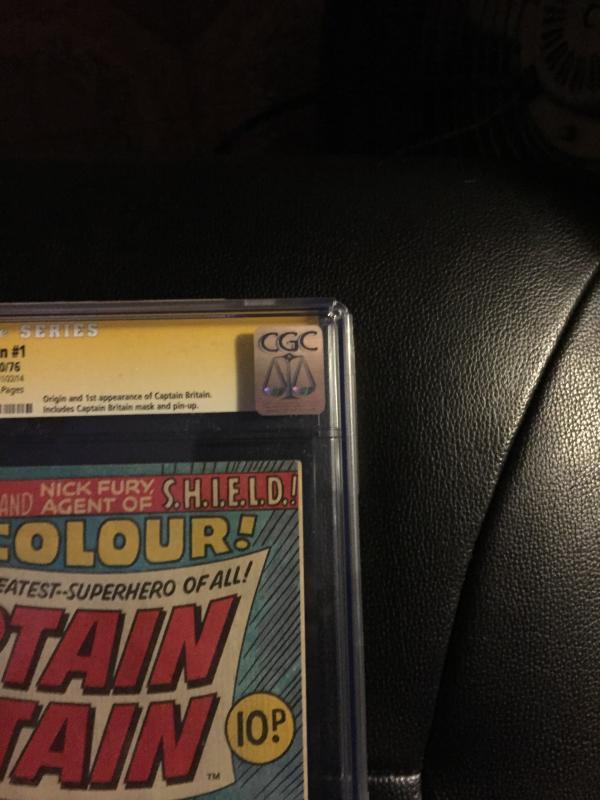 Captain Britain #1 Cgc 7.0 SS Herb Trimpe
