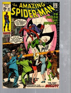 Amazing Spider-Man # 91 FN Marvel Comic Book MJ Vulture Goblin Scorpion TJ1