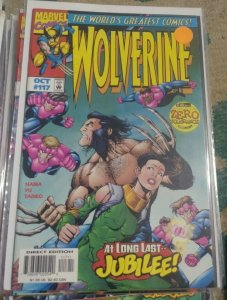 WOLVERINE # 117 1997 marvel  OPERATION ZERO TOLERANCE +JUBILEE+ SENTINELS