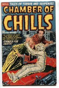 CHAMBER OF CHILLS #8 1952-Mummy cover-Decapitation-PRE-CODE horror