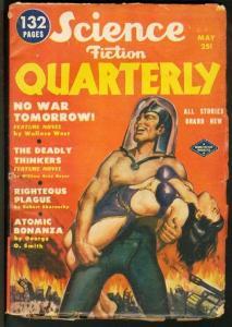 SCIENCE FICTION QUARTERLY 1951 MAY-HEADLIGHT GGA COVER VG