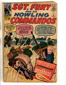 Sgt. Fury & His Howling Commandos # 3 VG/FN Marvel Comic Book Avengers FH2