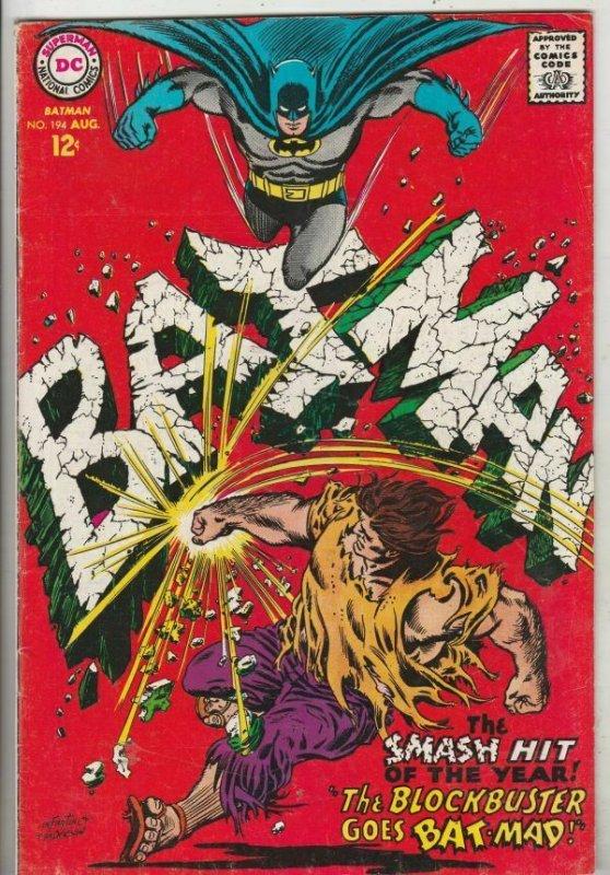 Batman #194 (Aug-67) VF+ High-Grade Batman