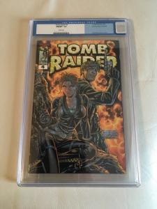 TOMB RAIDER # 4 CGC 9.8 DYNAMIC FORCES HOLOFOIL