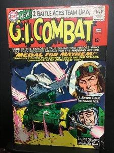 G.I. Combat #115 (1966) hi grade heart attack, Johnny cloud! VF/NM Boca CERT.