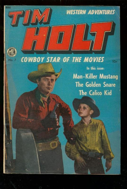 TIM HOLT #7 1949 B-WESTERN MOVIE PHOTO COVER-CALICO KID VG/FN