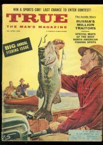 TRUE MAGAZINE APRIL 1956-FISHING ISSUE-ANITA EKBERG VG