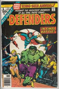 Defenders King-Size Annual, The #1 (Jan-76) FN Mid-Grade Hulk, Dr. Strange, V...