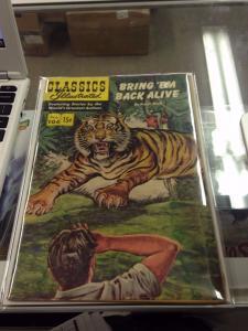 Classics Illustrated  #104 1st Printing Bring 'em Back Alive FN+