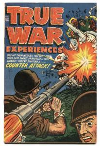 True War Experiences #1 Bazooka cover-Harvey High Grade 1952