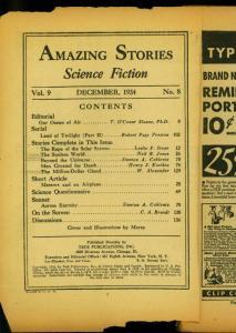 Amazing Stories Pulp December 1934 - Land of Twilight- Reading Copy