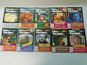 Video Watchdog Horror Lot 10 Different Average 6.0 FN (1993-2000)