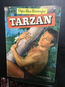 Tarzan #43 (1953) Mid-grade Barker photo cover key! VG/FN Wow!
