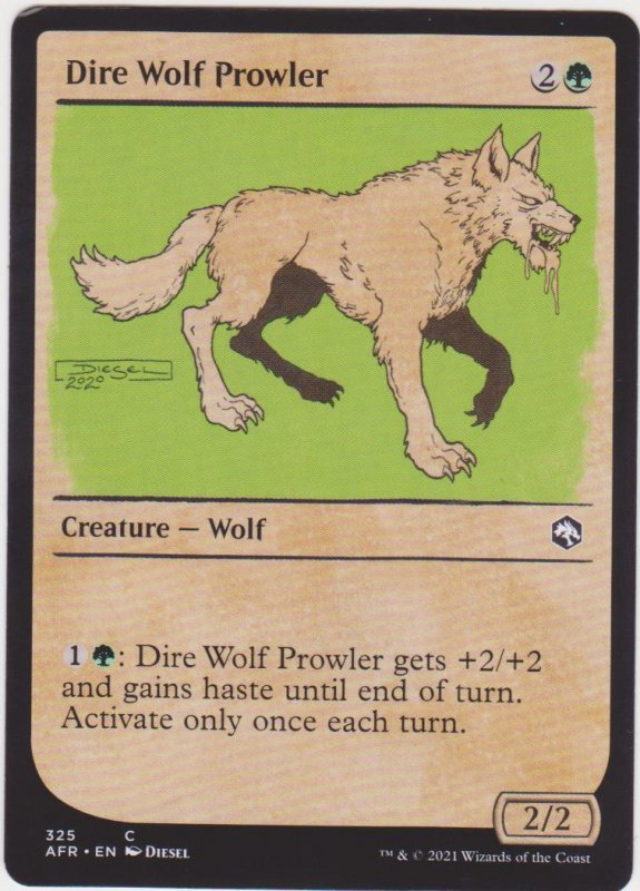 Magic the Gathering: Adventures in the Forgotten Realms - Dire Wolf Prowler(Show