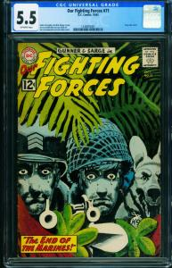 OUR FIGHTING FORCES #71-CGC 5.5-Roy Lichtenstein -DC-POOCH Fires Gun 1246955001