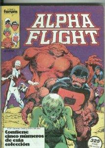 Alpha Flight volumen 1 retapado numero 01 al 05