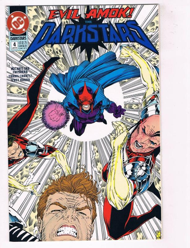 The Darkstars #4 FN DC Comics Comic Book Fleisher Jan 1989 DE37 TW7