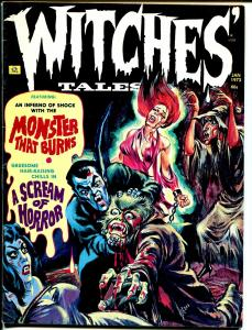 Witches Tales Vol.5  #1  1973-Eerie-werewolf & vampire cover-Carl Burgos-FN-