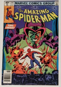 Amazing Spider-Man #207 (Aug 1980, Marvel) FN+ 6.5 Mesmero appearance