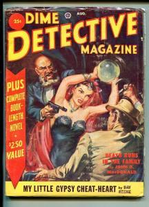 DIME DETECTIVE 08/1951-POPULAR-NORMAN SAUNDERS-JOHN D MACDONALD-vg/fn
