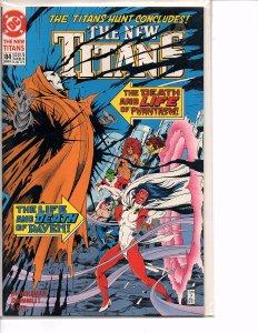 DC Comics New Titans #84 Nightwing, Cyborg, Raven Marv Wolfman Story