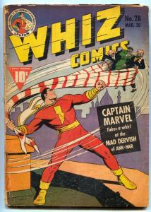 Whiz Comics #28 1942- Captain Marvel- restored G/VG