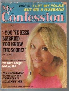 My Confessions 2/1967-Atlas-scandals-exploitation-posed pix-Marvel Comics pub...