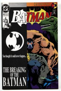 BATMAN #4972nd printing-rare-KNIGHTFALL-BANE BREAKS BATMAN