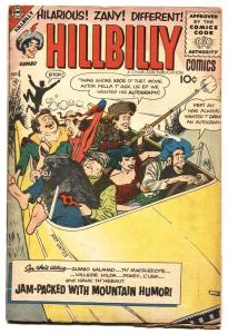 Hillbilly Comics #4 1956- Rare Charlton series- Mountain Humor VG/FN