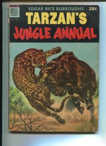TARZAN'S JUNGLE ANNUAL #3 1954-DELL-EDGAR RICE BURROUGHS-VG