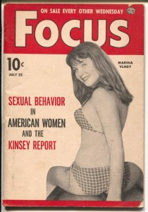 Focus 7/22/1963-Atlas-Mariana Vlady-Kinsey Report-Cheesecake-mini mag-VG