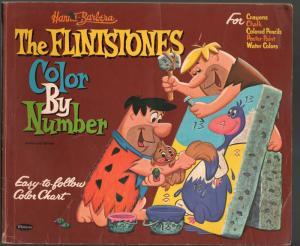 Flintstones Color by Number Book #1669 1962-Hanna-Barbera TV series-FR