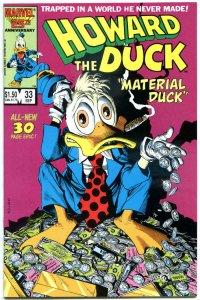HOWARD THE DUCK #33, NM-, Last issue, Low print run, Mayerik, 1976, Bronze age