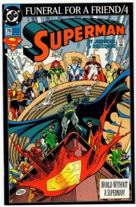 Superman #76 (VF/NM) Funeral For A Friend! BN#10