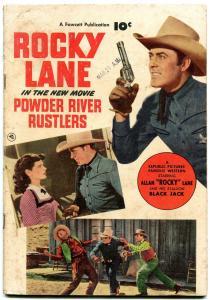Fawcett Movie Comic 1050-Powder River Rustlers - Rocky Lane- Western VG-